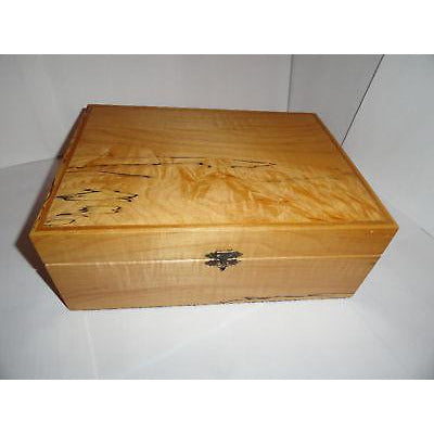 "Custom Exotic Wood Humidor 50 count capacity 12"" L x 8.75"" W x 4.5"" H"