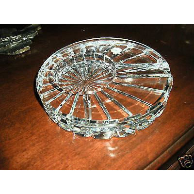 waterford round solitaire macanudo cigar ashtray new