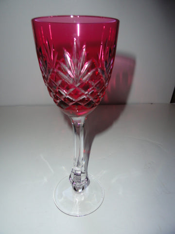 Faberge Odessa Crystal Cranberry colored Wine Glass