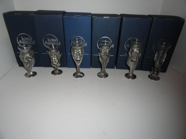 Royal Selangor Lord of the Rings Pewter Shot Glasses Set of 6