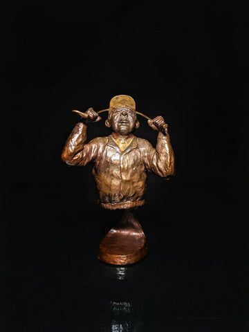 mark hopkins bronze golf series sculpture