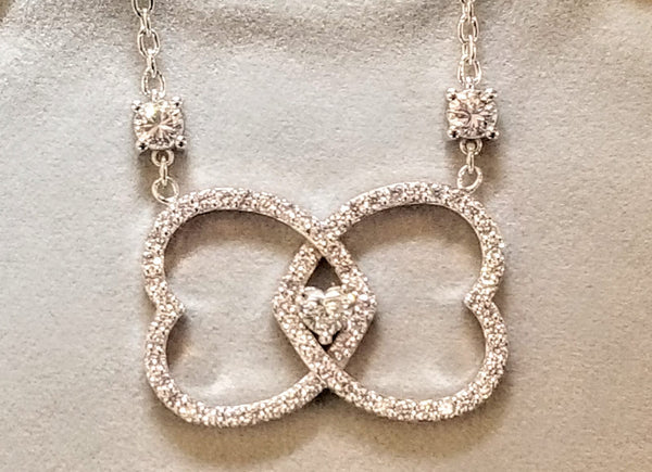 Diamond Hearts Pendant