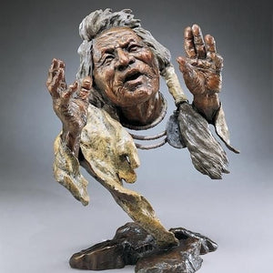 Mark Hopkins Legend Keeper Bronze Sculpture