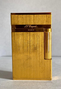 ST Dupont L2 Brushed Gold plated lighter