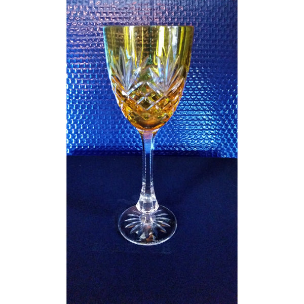 Faberge Odessa yellow crystal  glass