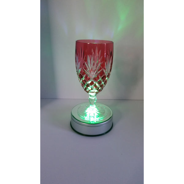 Faberge Odessa Cranberry Crystal Water Or Ice Tea Glass