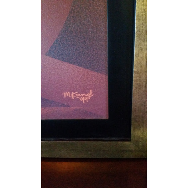 Art Deco Poster by Michael Kungl mounted and custom framed