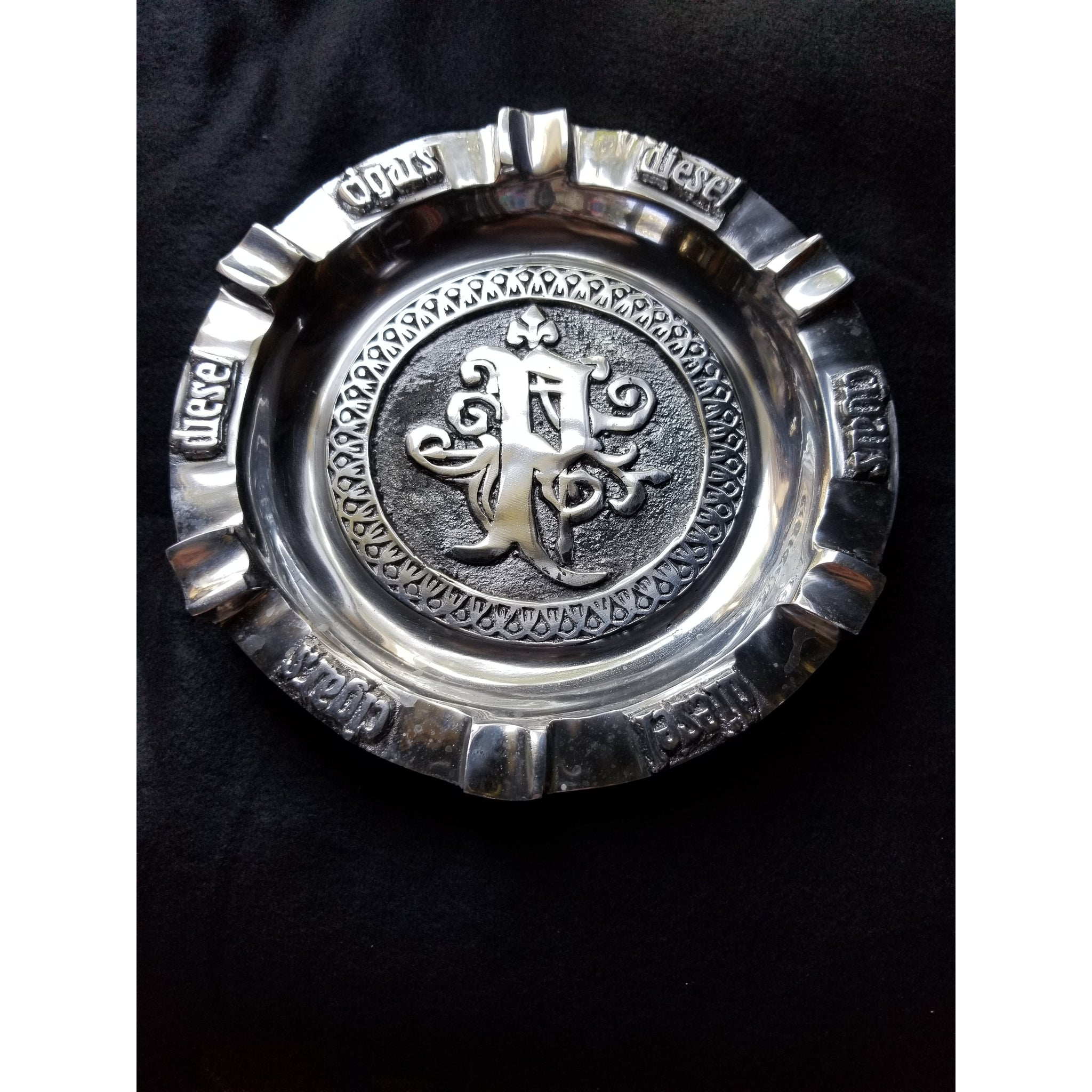 Pewter ashtray