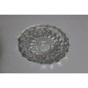 Clear Circular Glass Ashtray