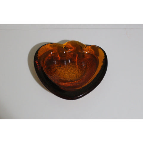 Amber Crystal Abstract Ashtray
