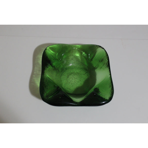 Green Crystal Rounded Square Ashtray