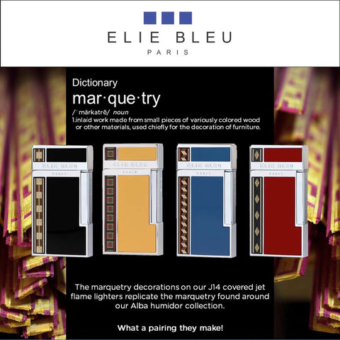 Elie Bleu Alba Jet Butane Lighter