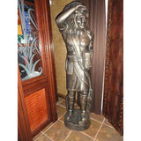 aluminum statue hand painted 6 foot high