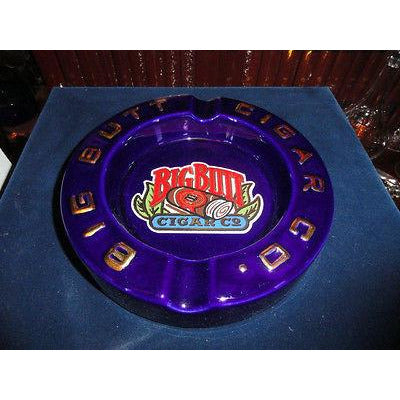 "Big Butt Cigar Co. Ceramic Cigar Ashtray 8"" Dia by 1.5"" Preowned Good Condition"