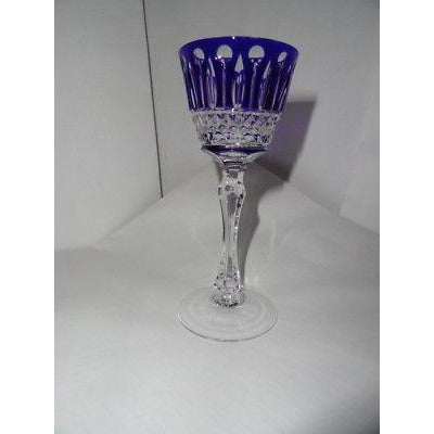 Faberge Xenia Cobalt  Blue Crystal  Liqueur Glass new without the original box