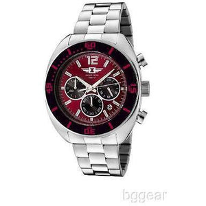 I by Invicta 90232-003 Men's Chronograph Red Dial Stainless Watch