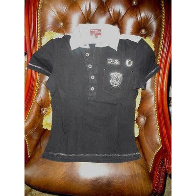 Engrgie Mens Designer Polo Shirt Black Medium preowned