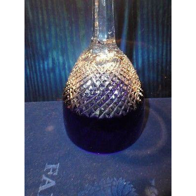 Faberge Crystal Cobalt Purple Goblet Glass Without Faberge Box Bg