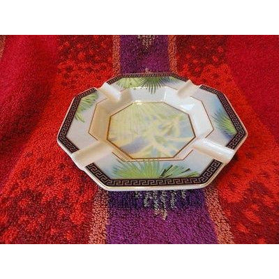 Versace Rosenthal Jungle Ashtray 5.5 inches wide New Porcelain without box