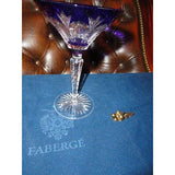 Faberge Palais Royal  Cobalt Blue Martini Glass new without the original box