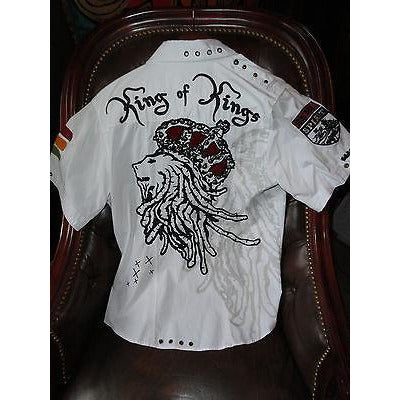 Rebel Spirit Mens Causal Short Sleeve Shirt preowned size Medium