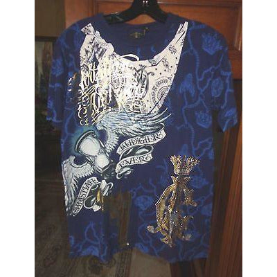 Christian Audigier Designer T-Shirt Size: medium