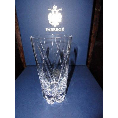 "Faberge Crystal Glass  6"" tall with 3"" opening new without box"