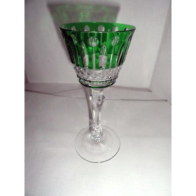 Faberge Xenia Green Crystal Cordial / Liqueur Glass NEW without box