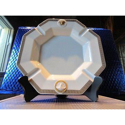 Versace Rosenthal Ashtray 9 inches wide New Porcelain