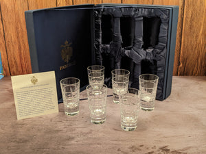 Faberge  Metropolitan Crystal Shot Glasses  Set of 6