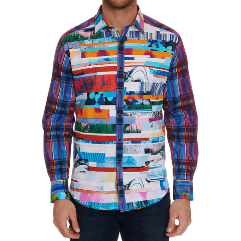 Robert Graham Breaking Lands Large Shirt