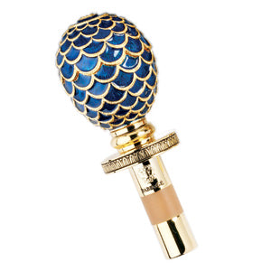 Faberge Blue Bottle Stopper