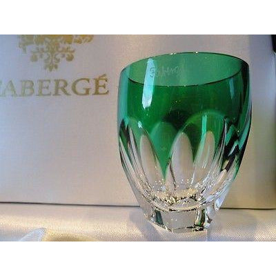 Faberge Lausanne Emerald Green  Vodka Shot Glass without  the box