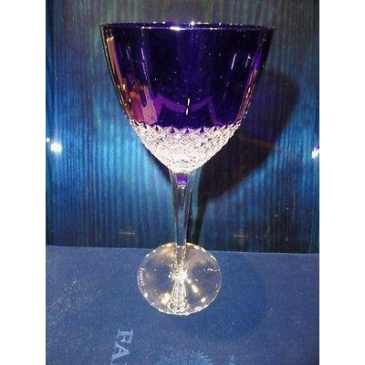 Faberge Crystal Cobalt Purple  Goblet Glass without Faberge Box