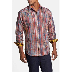 Robert Graham Zircon Multi Colored Medium-sized Shirt Preowned excellent condition