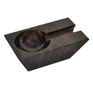 Elie Bleu Rectangular Black Obsidian ashtray