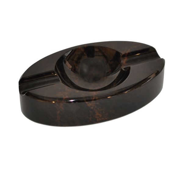 Elie Bleu Oval Brown Obsidian ashtray