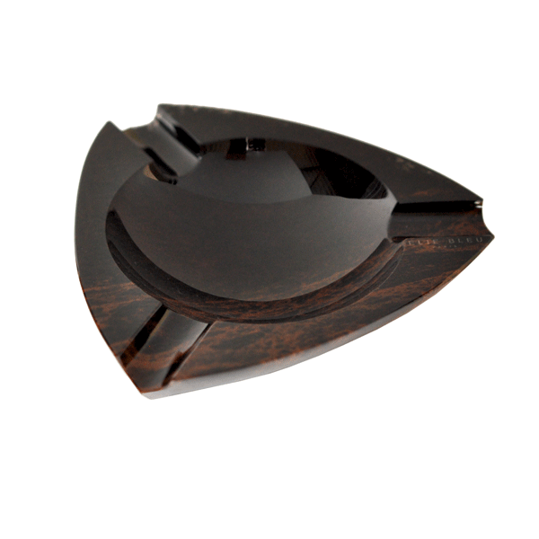 Elie Bleu Brown Obsidian Ashtray