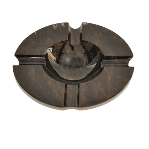 Elie Bleu Round Brown Obsidian Ashtray