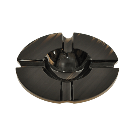 Elie Bleu Round Black Obsidian Ashtray