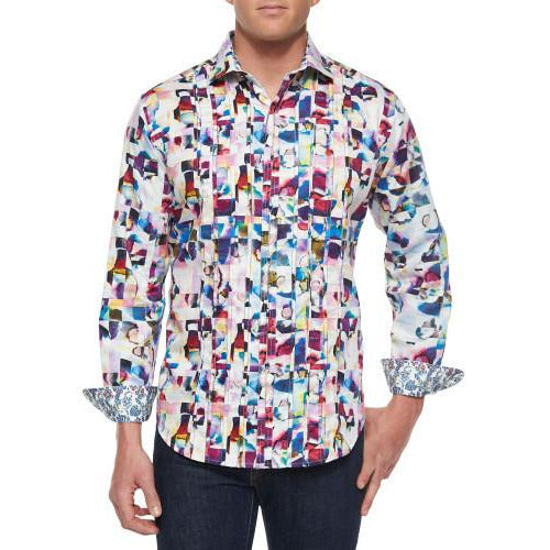 Robert Graham Magical Island  Medium-sized Shirt New With Tags