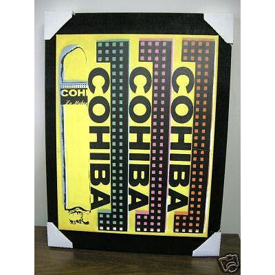 Cohiba Print on Canvass & Mounted on Black