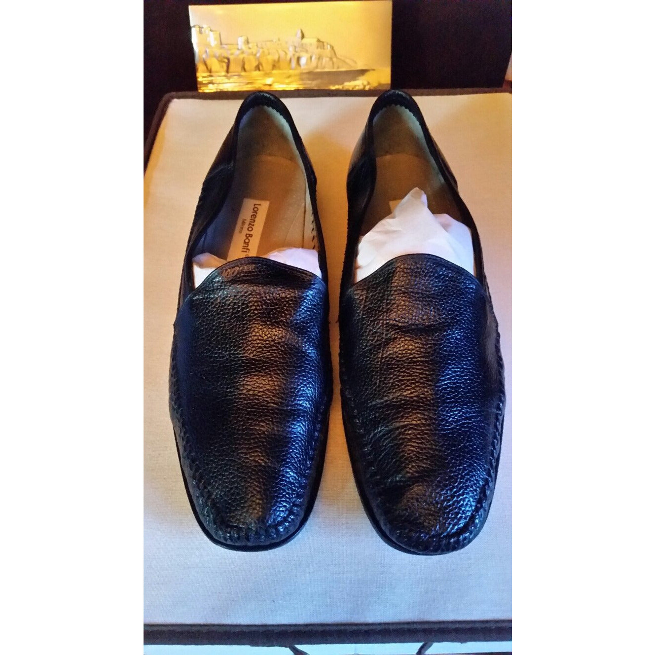 Lorenzo Banfi Size 12 M Black Shoes Preowned Good Condition