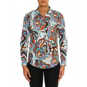 Robert Graham Medium-sized Shirt Preowned Good Condition