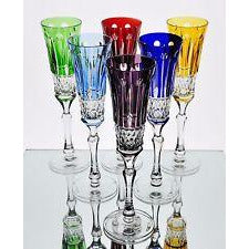 Faberge Xenia Colored Flutes set of 6