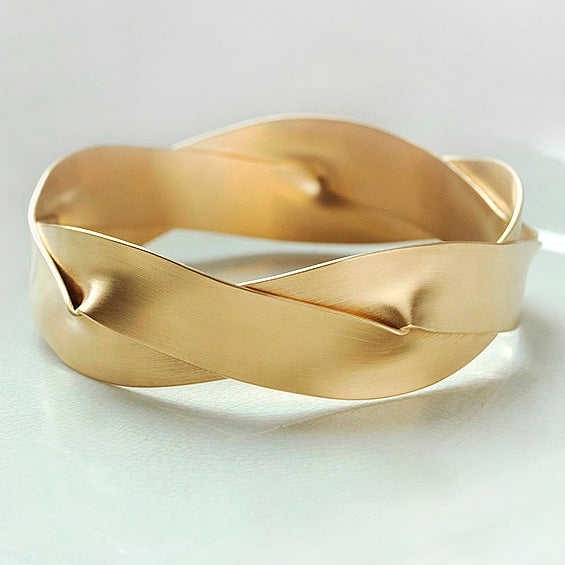 Leen Heyne Gold Braid Bangle
