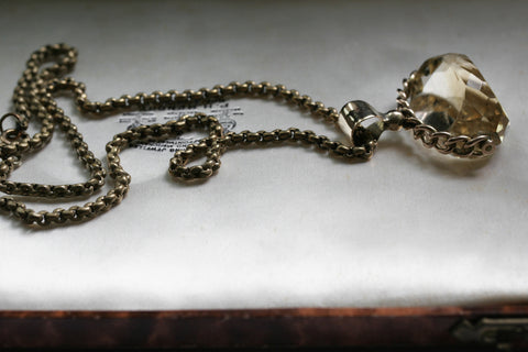 Victorian Citrine Fob Necklace