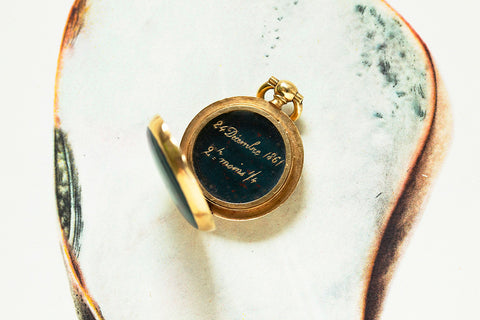 Victorian 'MD' Bloodstone Locket