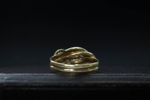 Victorian Double Snake Diamond Ring