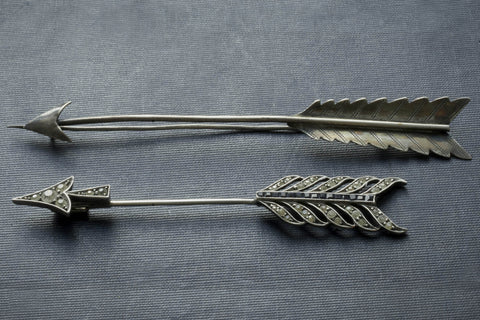Native American Silver Arrow Pin
